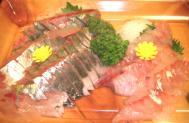 シマアジのお刺身調理例
